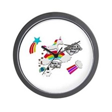 Unicorn And Penguin Craptastic Day Wall Clock