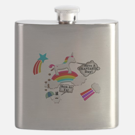 Unicorn And Penguin Craptastic Day Flask