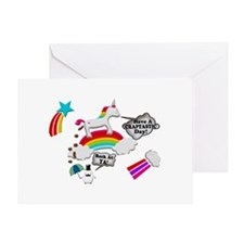 Unicorn And Penguin Craptastic Day Greeting Card