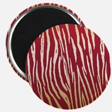 Glamorous Red and Gold Tiger Stripes Magnets