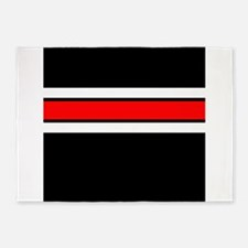 Team Colors 2...red,white and black 5'x7'Area Rug
