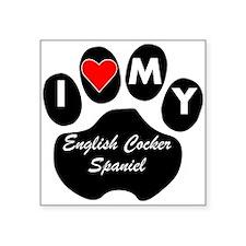I Heart My English Cocker Spaniel Sticker
