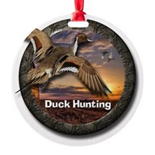 Duck Hunting Round Ornament