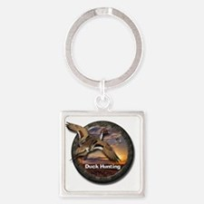 Duck Hunting Square Keychain