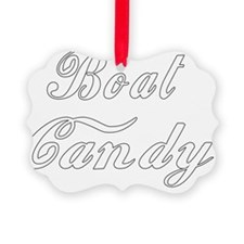boat candy white on trans Ornament