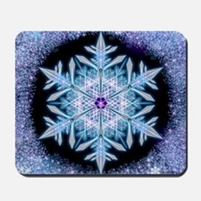 November Snowflake - square Mousepad