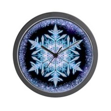 November Snowflake - square Wall Clock