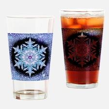 November Snowflake - square Drinking Glass