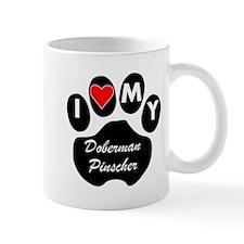 I Heart My Doberman Pinscher Mugs