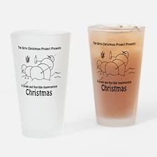 Drunk Christmas CD Art Drinking Glass
