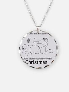 Drunk Christmas CD Art Necklace