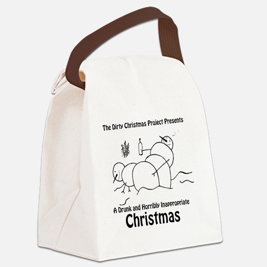 Drunk Christmas CD Art Canvas Lunch Bag