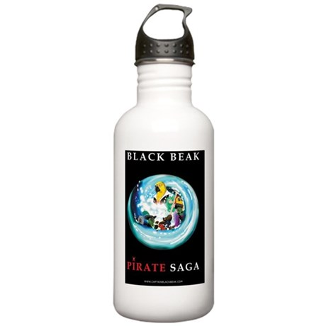 BLACK_BEAK_BOOK_PIRATE Stainless Water Bottle 1.0L
