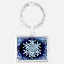 December Snowflake - wide Landscape Keychain