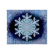 December Snowflake - wide Throw Blanket