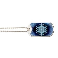 December Snowflake - wide Dog Tags