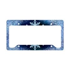 December Snowflake - wide License Plate Holder