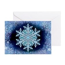 December Snowflake - wide Greeting Card