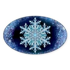 December Snowflake - wide Decal