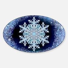 December Snowflake - wide Decal