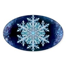 December Snowflake - greeting card Decal