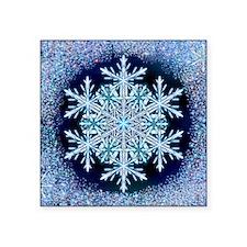 """December Snowflake - square Square Sticker 3"""" x 3"""""""