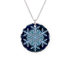 December Snowflake - square Necklace