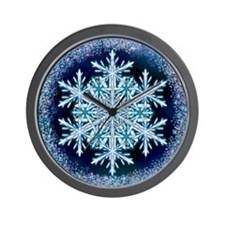 December Snowflake - square Wall Clock