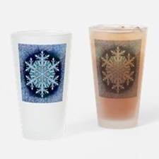 December Snowflake - square Drinking Glass