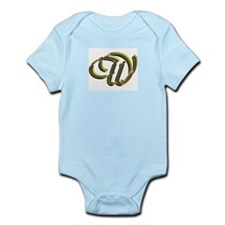 Phyllis Initial W Infant Creeper