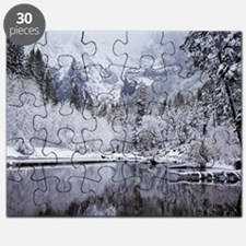 Wintry Cathedral Beach, Yosemite National P Puzzle