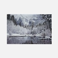 Wintry Cathedral Beach, Yosemite  Rectangle Magnet