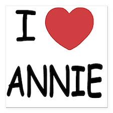 """ANNIE Square Car Magnet 3"""" x 3"""""""