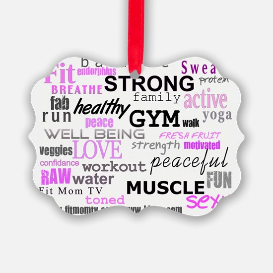 FitMomWords Ornament