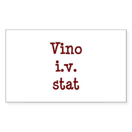 Vino I.V. Stat Rectangle Sticker
