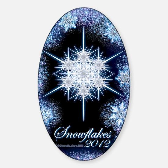 Snowflake Calendar 2012 - vertical  Sticker (Oval)