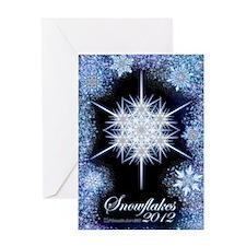 Snowflake Calendar 2012 - vertical c Greeting Card