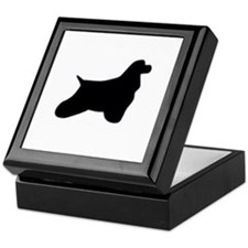 Cocker Spaniel Silhouette Keepsake Box