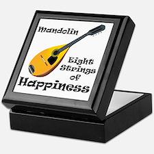 Mandolin (white) Keepsake Box