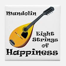 Mandolin (white) Tile Coaster