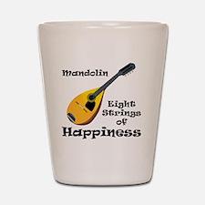 Mandolin (white) Shot Glass