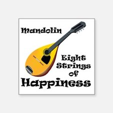 "Mandolin (white) Square Sticker 3"" x 3"""