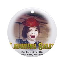 Laughing Sally Head Shot Round Ornament
