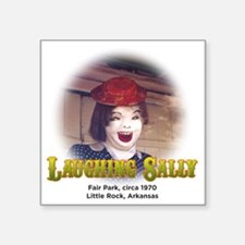"Laughing Sally Head Shot Square Sticker 3"" x 3"""
