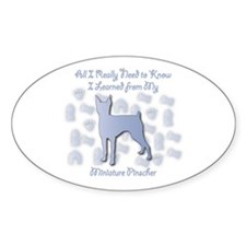 Learned Pinscher Oval Decal