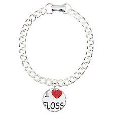 FLOSS Charm Bracelet, One Charm