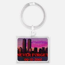 Never Forget NY 09-11-2001 Landscape Keychain
