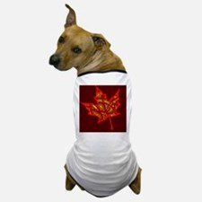 Fire Leaf Dog T-Shirt
