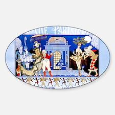 1 A BARBIER GARDEN PARTY CFLD Sticker (Oval)