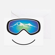 goggle black Greeting Card